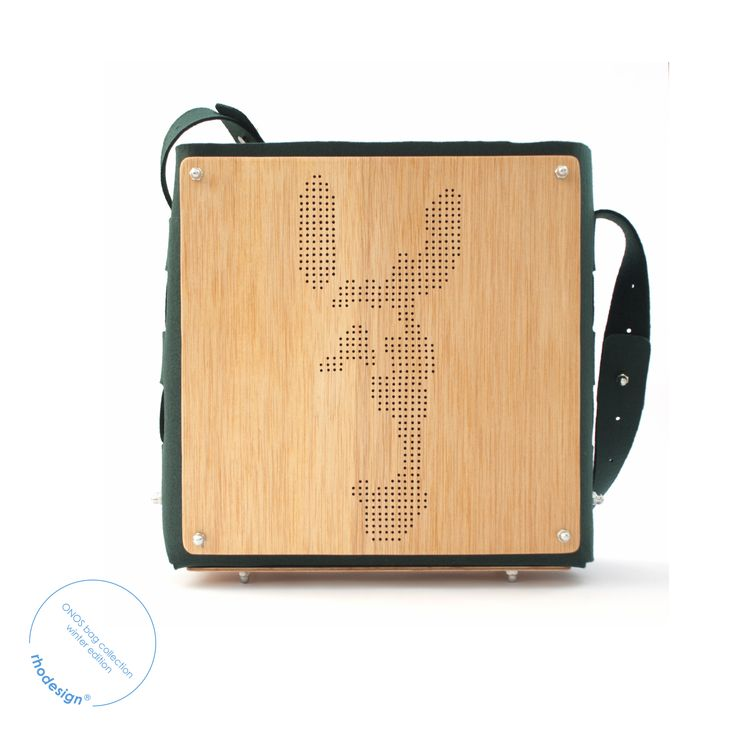x-large handcrafted stitchless wood and felt bag