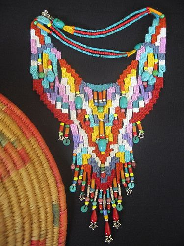 weaving with needle necklace by AowDusdee, via Flickr