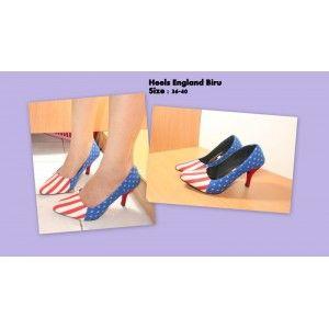 Heels England Biru bukan untuk cabe-cabe an