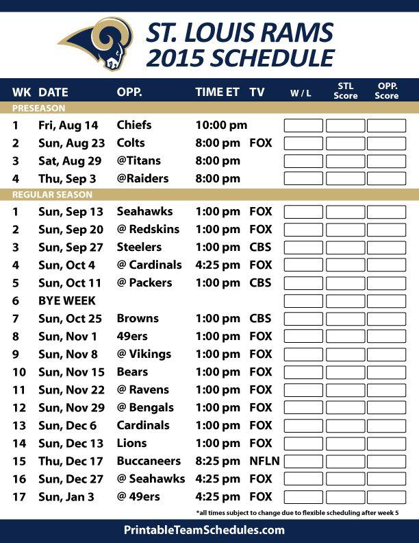 Rams Schedule 2017 Related Keywords Suggestions Rams Schedule