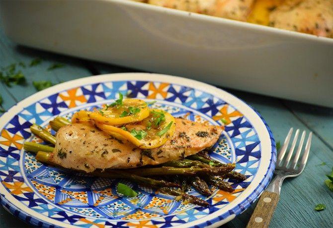 Citromos csirke spárgával