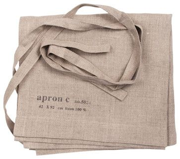 Linen Cafe Apron - eclectic - aprons - other metro - ABC Carpet & Home