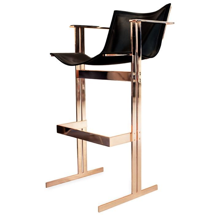 Otto Bar Chair a bar stool so sturdy and industrial yet comfortable!  Cool