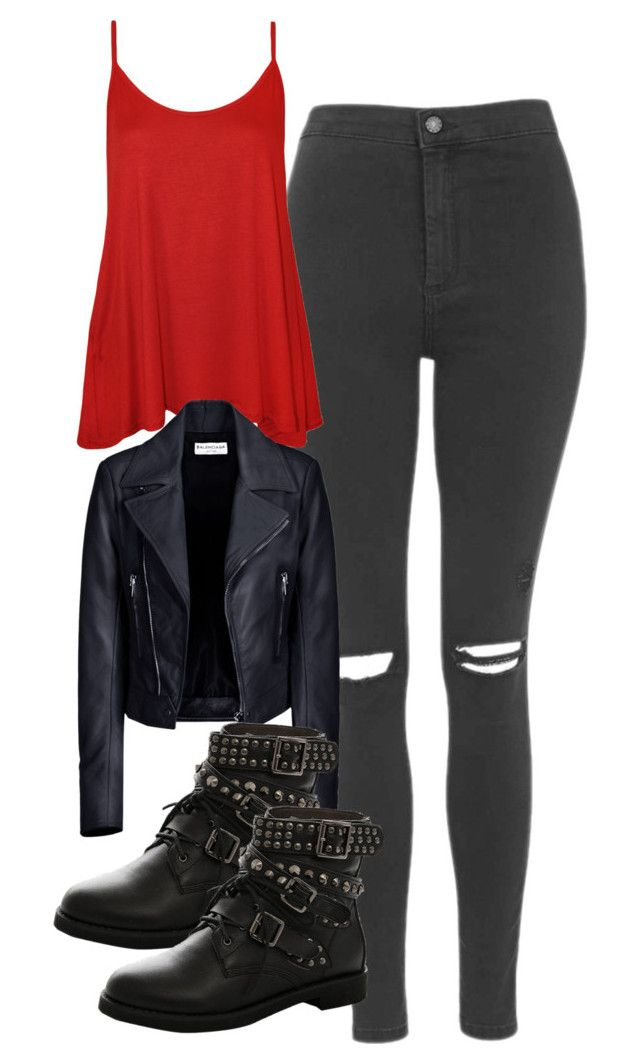 """""""Hayley Marshall Inspired Outfit"""" by mytvdstyle ❤ liked on Polyvore featuring Topshop, WearAll, Balenciaga, to, Inspired, tvd, TheOriginals and thevampirediaries"""