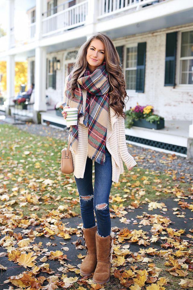 aac844457 Koolaburra by UGG Victoria tall boot c/o AG jeans // Volcom cardigan //  blanket scarf Have you guys heard of ... #blanketscarfcardigan