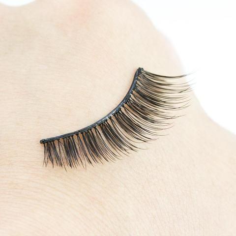 255ec11cc0b Genailish 1Pair 3D Mink False Eyelashes Self Adhesive No Glue Elegant Makeup  Party Fake Eye Lashes Extension Beauty Tools ZKS01
