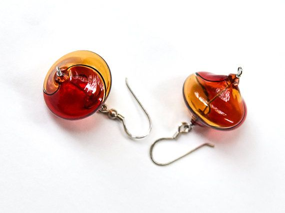 Blown glass jewelry Blown glass earrings Mom gift by BeadABoo