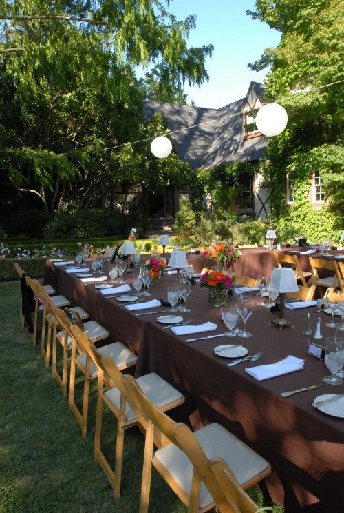 Intimate Wedding Reception In The Gardens Of A Gorgeous Tudor Estate In The  Hills Above Napa