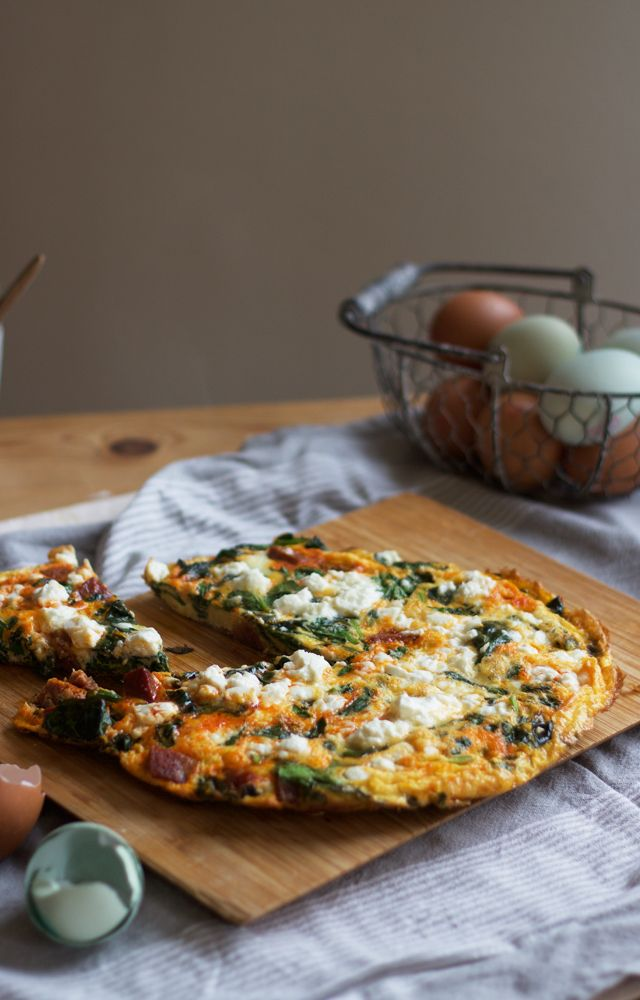 Chorizo, feta + spinach frittata- {Three ways with :: Chorizo}