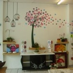 One of our walls in our shop with a beautiful tree perfect for a kids wall