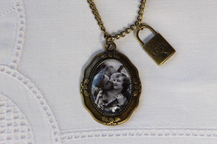 """Kette """"Vintage Love"""" mit Liebesschloss von Aus Muddi's Schmuckkästchen auf DaWanda.com"""