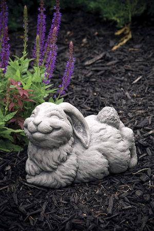 Lawn Ornament Animal Rabbit Statue   Cotton   Concrete Statue