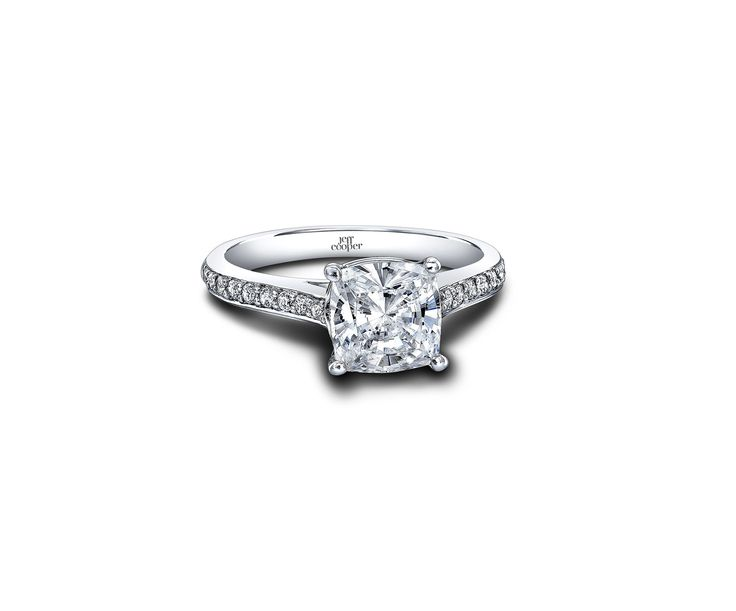 jeff cooper designs style rp 3325 caitlyn cushion cut engagement rings from 1200 - Wedding Rings Under 200