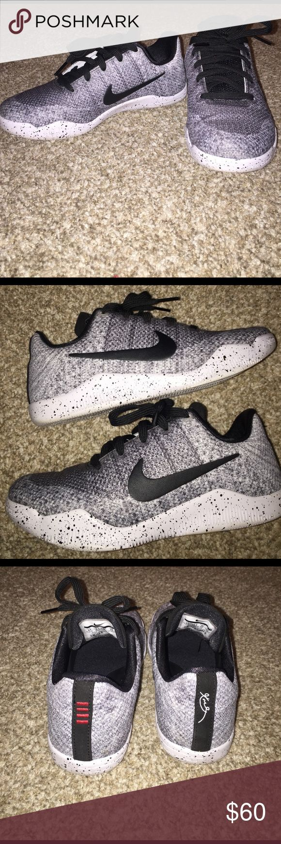 "KOBE BRYANT SNEAKERS KOBE BRYANT ""Oreo."" Kids size 4Y, I am a ladies 6 61/2 and these fit just fine! Very LIGHTLY worn. Like NEE. Purchased only 4 months ago! NO FLAWS Nike Shoes Sneakers"