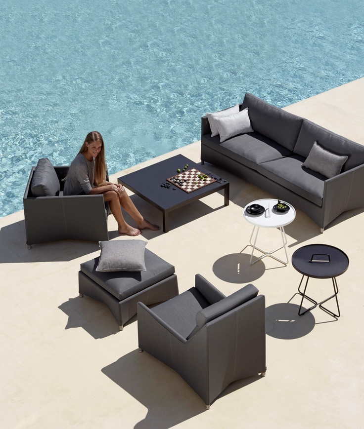 On-the-Move from Cane-line. Design by Strand+Hvass. #outdoor #table