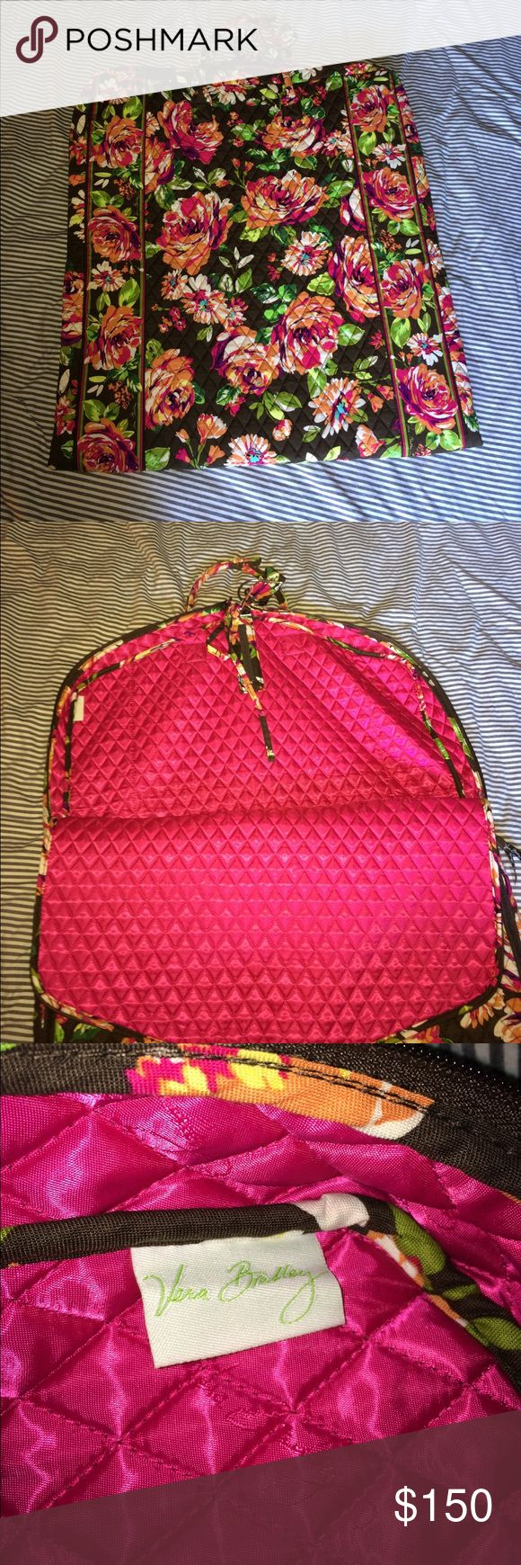 "Vera Bradley Garment Bag Retired English Rose pattern. Purchased new several years ago because I always wanted a garment bag. Never used it, so I'm getting rid of it. 54"" long x 22.5"" wide. Two handles (no shoulder strap). Perfect condition! Open to reasonable offers. Thanks for looking! Vera Bradley Bags Travel Bags"