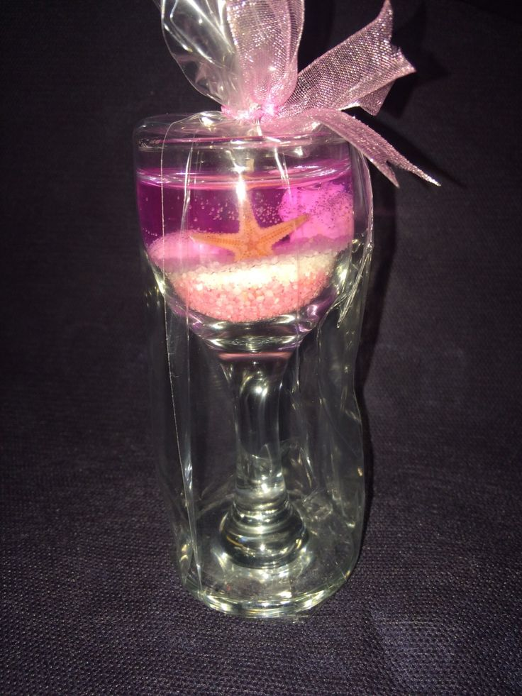 gel candle pink handmade candles