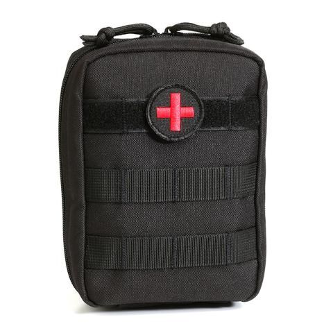 MOLLE EMT Medical First Aid Utility Pouch - black - Orca Tactical Gear  The Orca Tactical MOLLE EMT Military Medical Pouch is the latest design in military grade tactical first aid gear. Constructed from 900 Denier PVC Polyester, our medical pouches are built to withstand the toughest outdoor conditions. It features a front side to side MOLLE webbing at the top so you can attach a first aid patch and any other identification or decorative patch at the same time. A first aid patch is included…