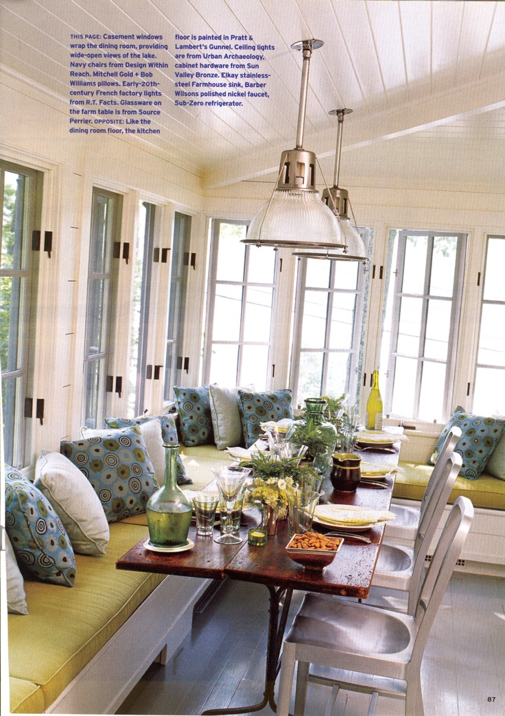 Great look for our sunroom Love the