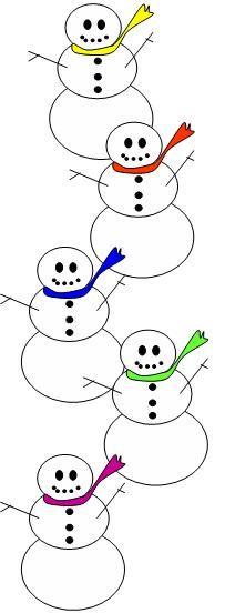 """Five Little Snowmen"" Song from Little Fingers That Play"