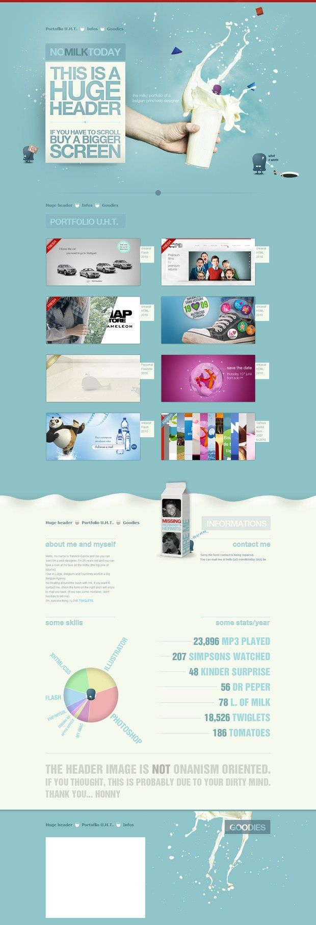 Milk Today | #webdesign #it #web #design #layout #userinterface #website #webdesign < repinned by www.BlickeDeeler.de | Take a look at www.WebsiteDesign-Hamburg.de