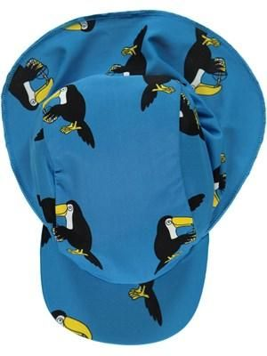 Blue UV Sun Hat with Toucans from Smafolk. Available at Modern Rascals.