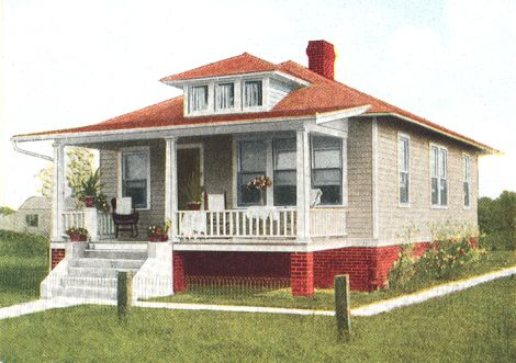Craftsman exterior colors a red roof picks up the color - Roof colors for green houses ...