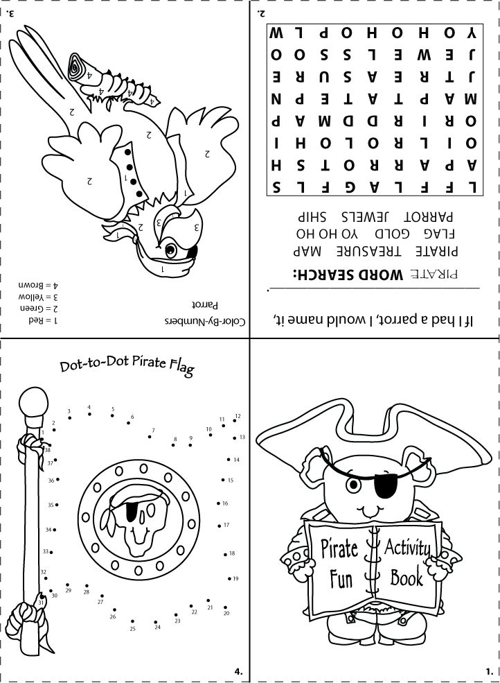 Printable pirate activity sheet for goodie bags | Pirate ...