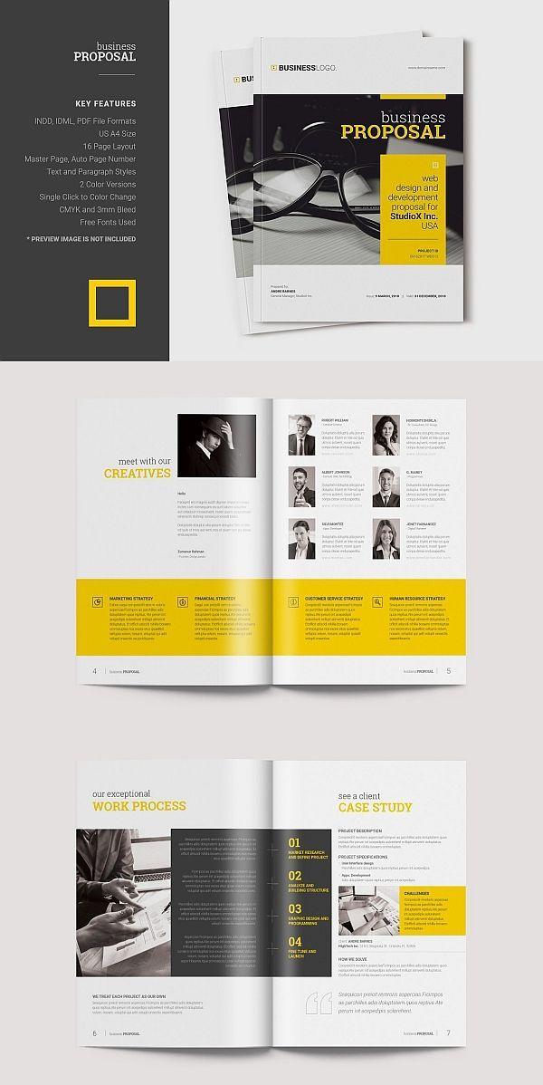 Business Proposal Template Proposal Brochure Template Indesign Brochure Design Layout Proposal Design Booklet Design