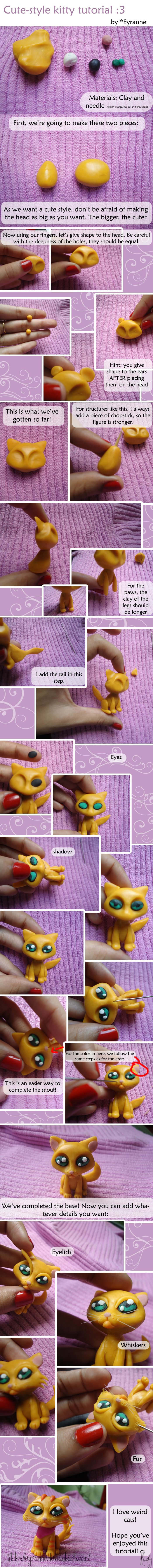 Kitty Tutorial by *Eyranne on deviantART      < I can't wait to make this cutie kitty!>