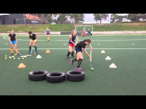 Field hockey drills to do at home and at the practice field for beginners - YouTube