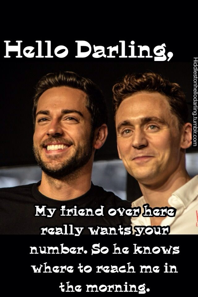 Tom Hiddleston and Zachary Levi in the same picture!