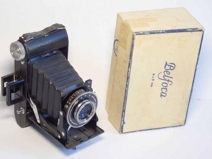 Working Belca Belfoca Dresden DDR folding camera 6x9 Bonotar V 10,5cm lens & box | Cameras & Photo, Vintage Movie & Photography, Vintage Cameras | eBay!