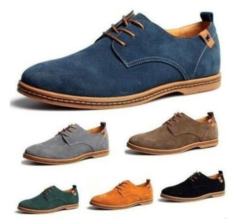 Details about Suede European style leather Shoes Men's oxfords Casual Comfort All Season – Suits & Clothes