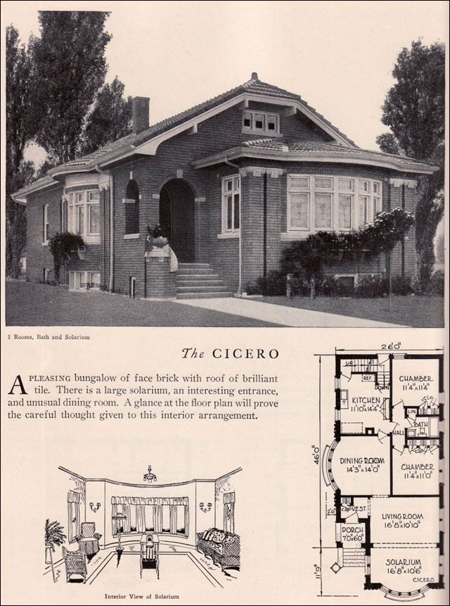 Home builders catalog 1929 cicero american residential American home builder