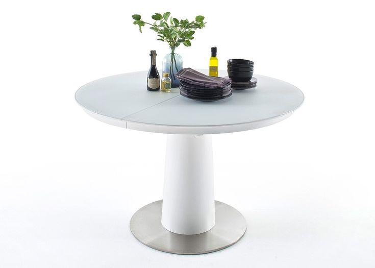 tisch waris runder esstisch ausziehbar esszimmertisch wei matt 22450 buy now at https - Erweiterbar Runden Podest Esstisch