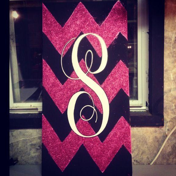 chevron painted letter