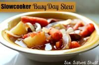 Six Sisters Slow Cooker Busy Day Stew on MyRecipeMagic.com. So easy, just throw in the slow cooker and forget about it! #sixsistersstuff