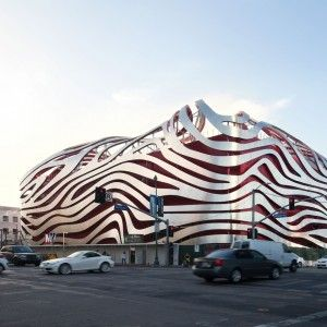 LA's Petersen Automotive Museum reopens with KPF-designed metal-ribbon facade