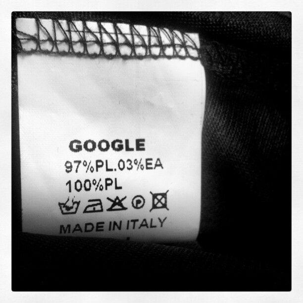 I wear #google ... #madeinitaly