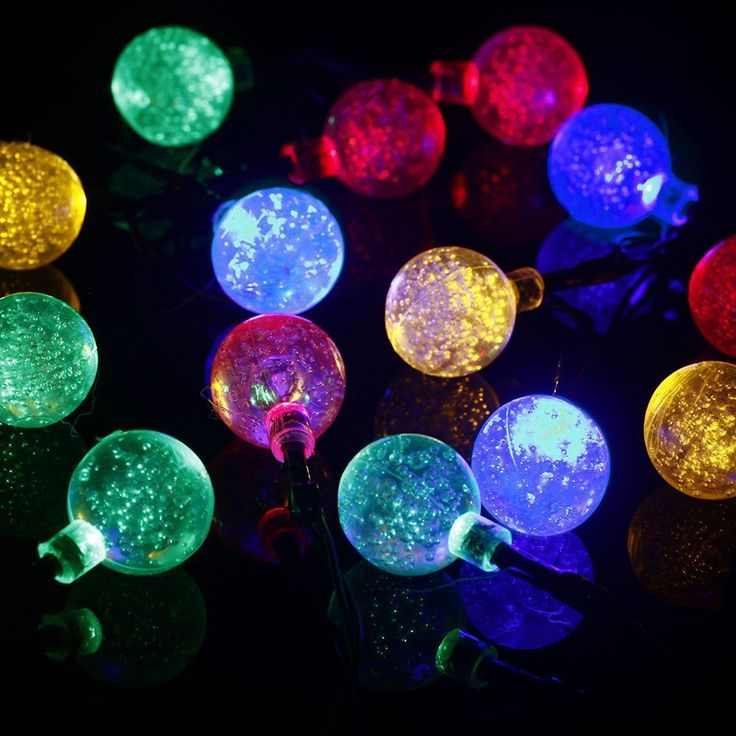 Solar Ed Outdoor Christmas Lights