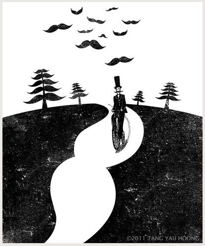 Black and white illustration by Tang Yau Hoong.