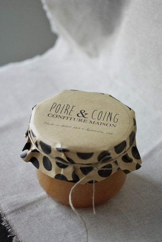 Confiture poire & coing et sa jolie étiquette à pois | Petits Pois