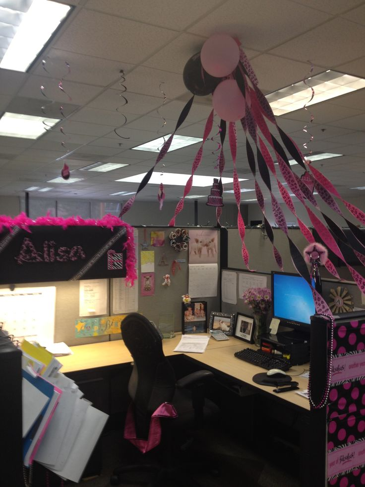 Decorating Office Cubicle For Birthdays Style