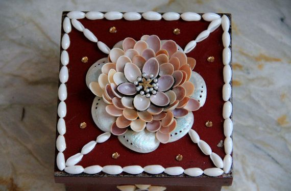 Seashell Box: Seashells Boxes, Shells Art Decor, Seashells Crafts, Sailors Sweetheart, Broward Shells, Art Decor Favorite, Boxes Broward, Seashells Art, Sweetheart Boxes