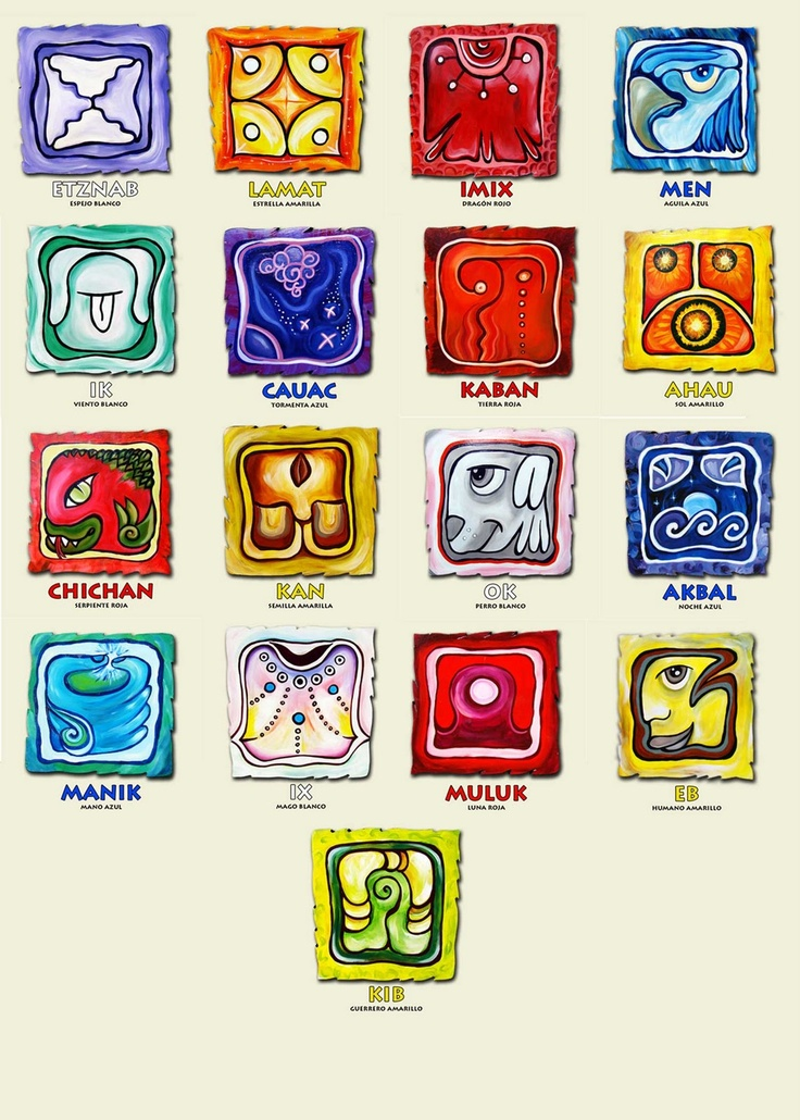 algunos de los sellos mayas