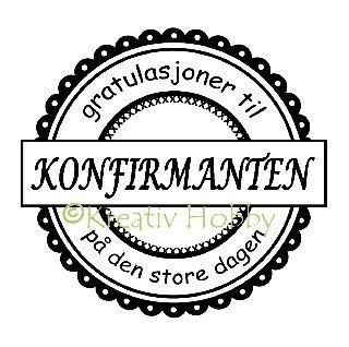 UM Stempel tekst - Rund Konfirmanten Scallop