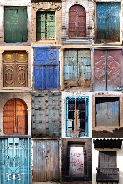 Travel Photography Tips and Ideas, I have lots of doors from travels I like the idea of putting them together.