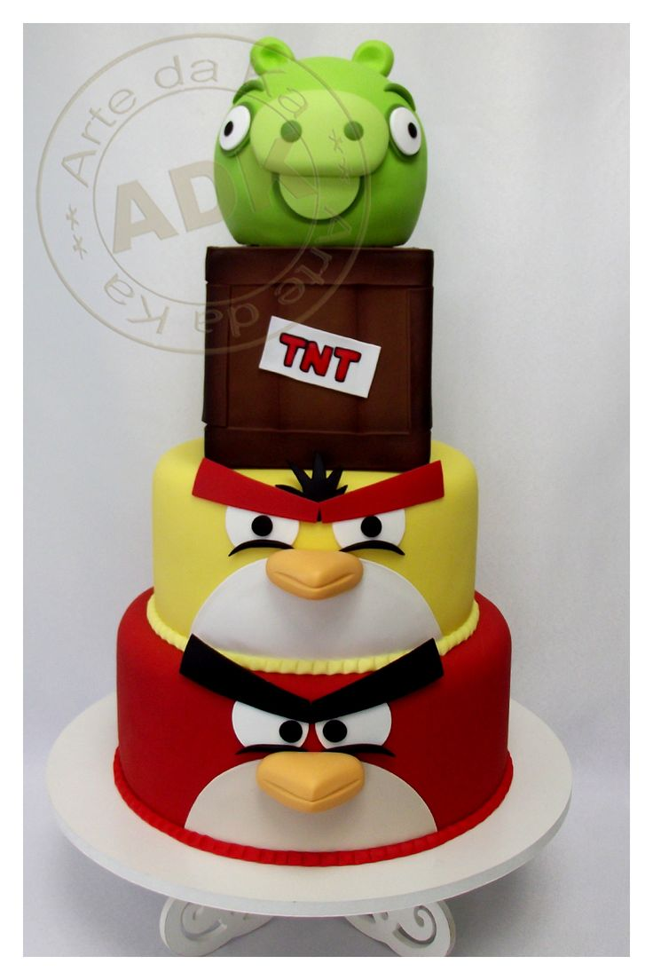 Angry Birds cake more pins under www.gimo.de