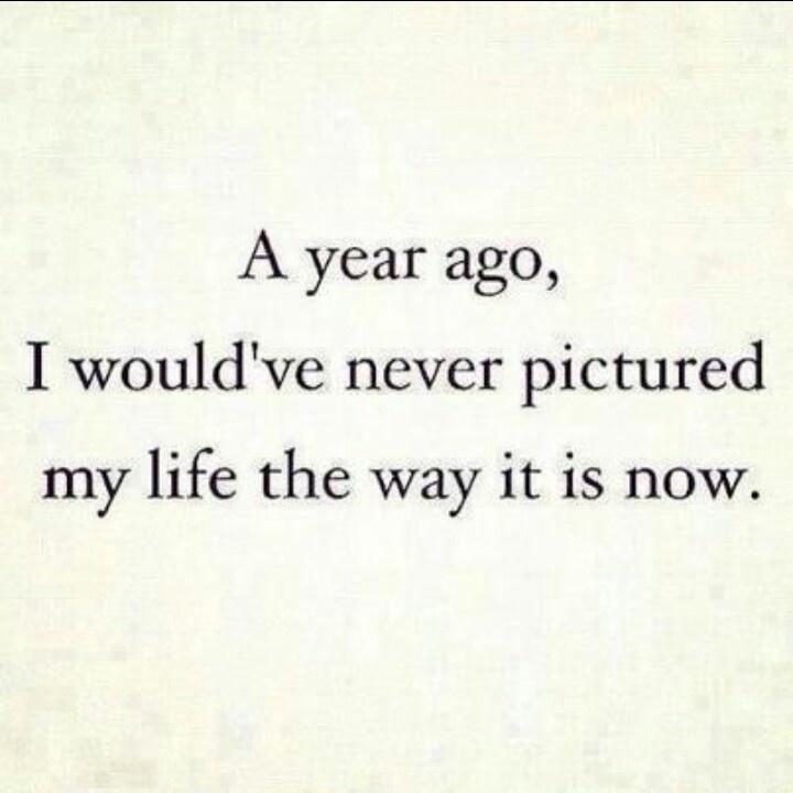 Where were you a year ago?